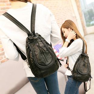 迷你双肩包 两用休闲女包旅行韩版潮软皮小包斜挎小背包胸包女图片