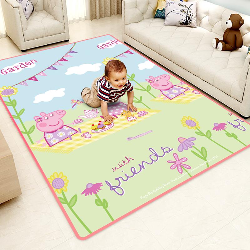 小猪佩奇婴儿爬行垫家用客厅宝宝小孩爬爬垫加厚儿童泡沫地垫地毯
