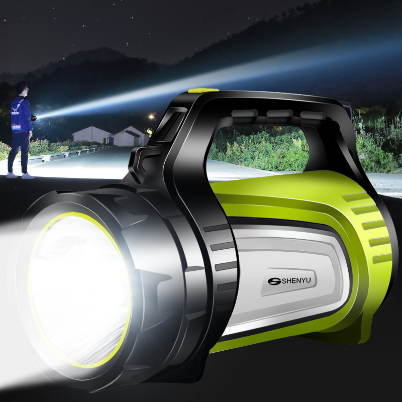 强光手电筒远射超亮探照灯多功能户外氙气手提式大容量充电灯