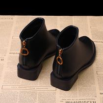 马丁靴女英伦风2019新款短靴女秋冬季雪地鞋女粗跟韩版小跟鞋百搭