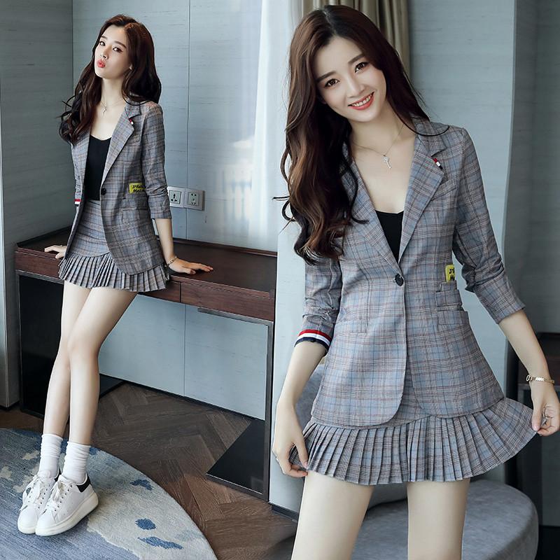 短裙套装气质显瘦连衣裙两件套