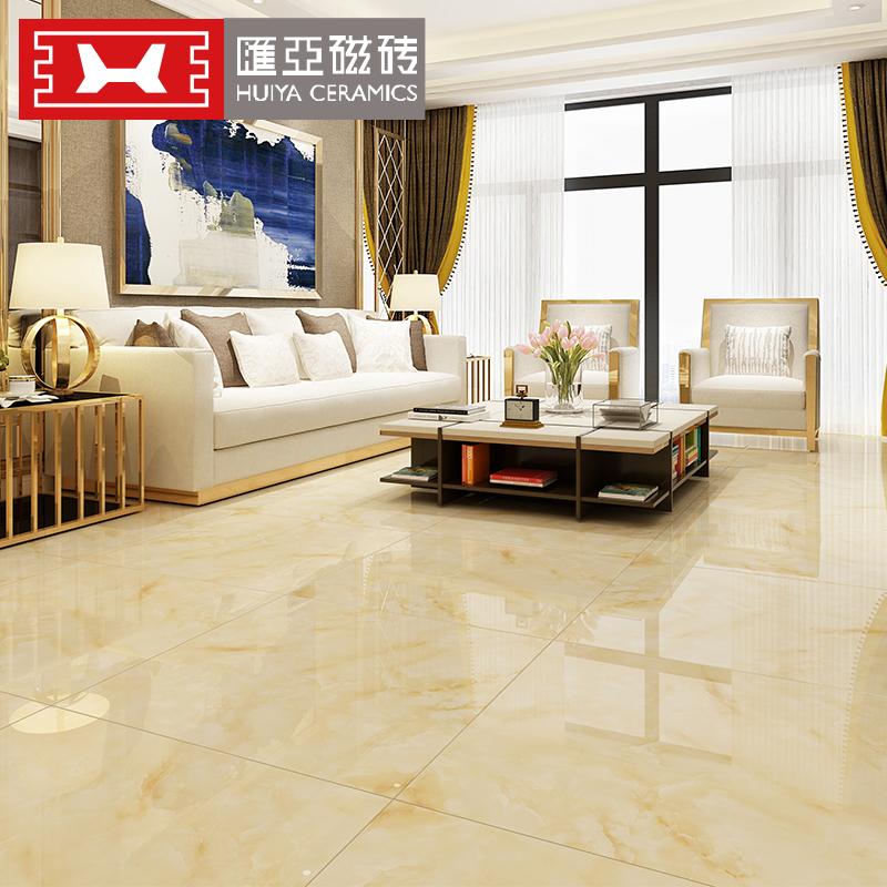 汇亚瓷砖 简约现代800x800瓷砖全抛釉防滑地砖客厅墙砖 碧玺白玉