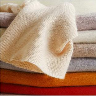 打底薄毛衣女短款羊毛绒套头高领毛衣针织长袖韩版纯色减龄打底衫