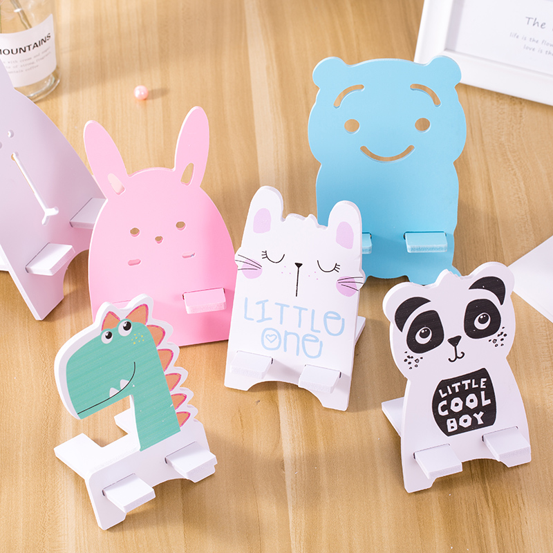 手机创意平板家用桌面懒人可爱卡通动物简约折叠式便携熊猫支架