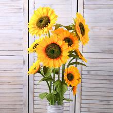 仿真向日葵太ai3花假花客st地高枝摆放花室内装饰花