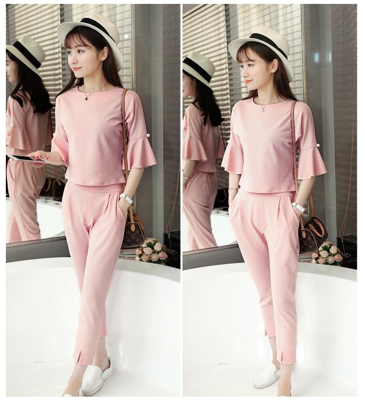 粉色(上衣 褲子)