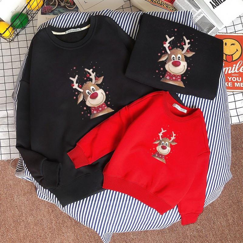 圣诞节毛衣亲子装 时尚母女装可爱圣诞服男童保暖圣诞老人家庭装