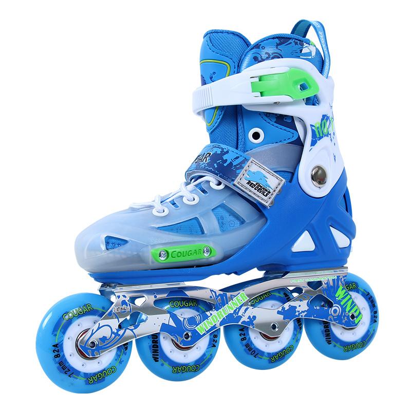 美洲狮红魔俱乐部轮滑鞋溜冰鞋儿童专业男女旱冰鞋直排轮CR5