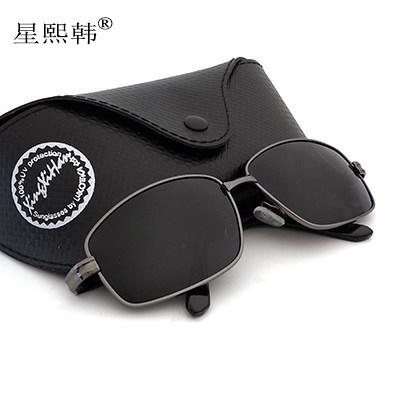 墨镜男士圆脸太阳镜男墨镜开车偏光镜司机镜方框太阳镜女网红眼镜