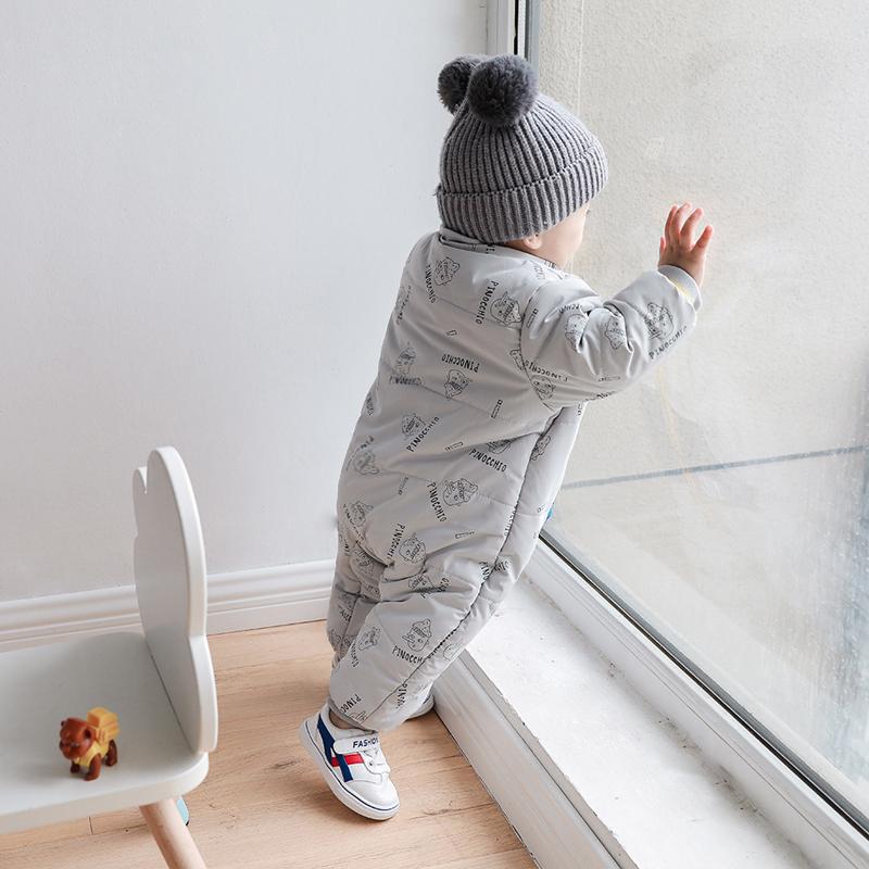 婴儿连体衣冬装加厚棉衣哈衣新生儿衣服外出棉服宝宝秋冬季款棉袄
