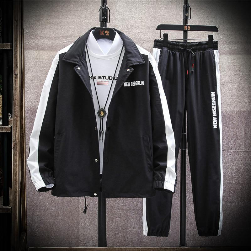 2020春季男士休闲外套青少年学生bf潮男夹克套装-TZ605-P75挂拍