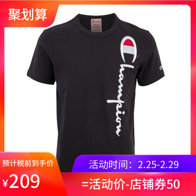 CHAMPION冠军CH212975男士刺绣全棉短袖T恤19年夏季新款XY