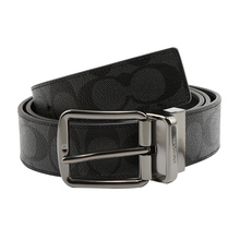 COACH Koch Men's Broad and Narrow Version of Classic Business Leisure PVC Needle Belt and Belt 64839 55157