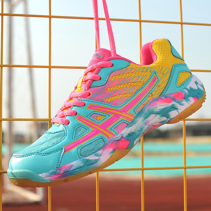 正品雷弗斯儿童羽毛球鞋男女童牛筋底羽球鞋训练鞋情侣运动鞋男鞋