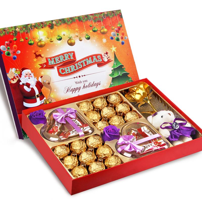 创意DIY巧克力礼盒装送女友女生圣诞节生日礼物浪漫表白情人节