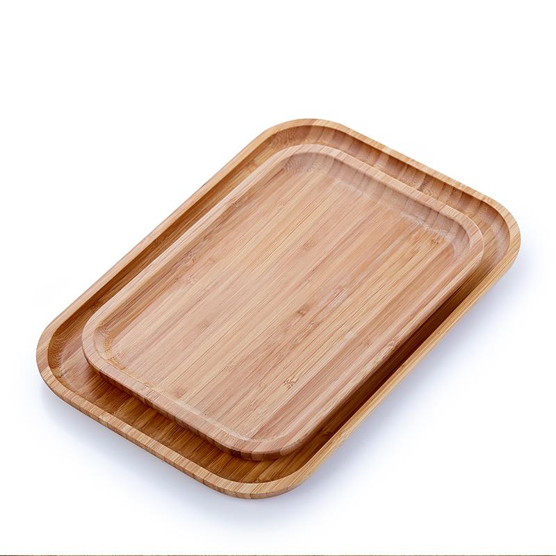 竹茶盘家用实木小托盘简约茶具迷你现代简约客厅简易茶盘长方形禅
