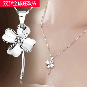 SamSung III 925 plum necklace with clavicle necklace minimalist Korean jewelry pendants to his girlfriend gifts