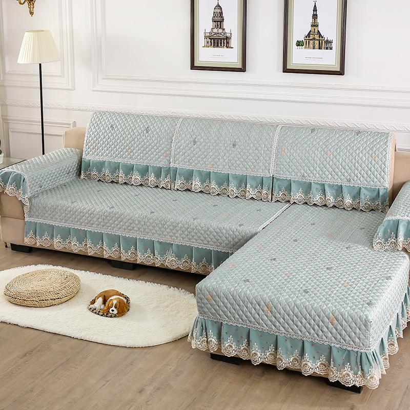 沙发垫四季通用防滑布艺组合套装1+2+3客厅�f能沙发套罩巾全包盖