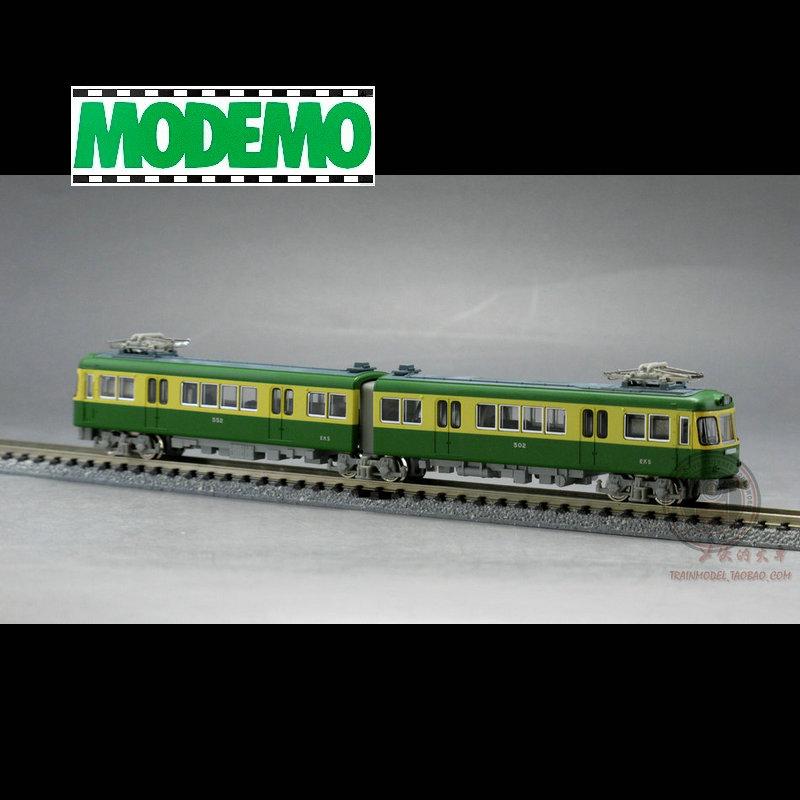 火车女侠模型N型日本MODEMO   美涂装 江之岛电铁 角形一灯型