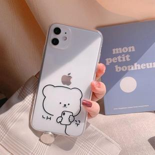 笔画8plus6硅胶透明iphone11plusiphone小熊简78xsmax机壳新款11x