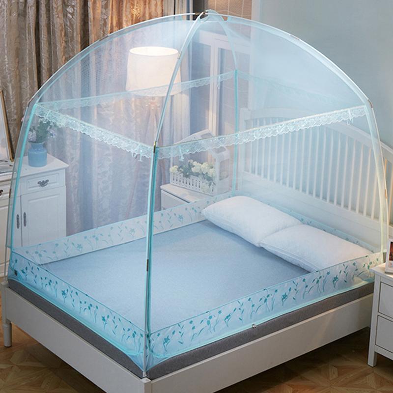 蒙古包蚊帐1.2米床上夏季全封闭拉链式1.5m1.8m床家用2米防摔支架