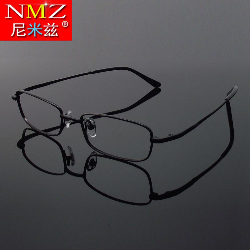 全框纯钛眼镜框男款钛合金超轻眼睛架配眼镜高度近视远视弱视小款图片