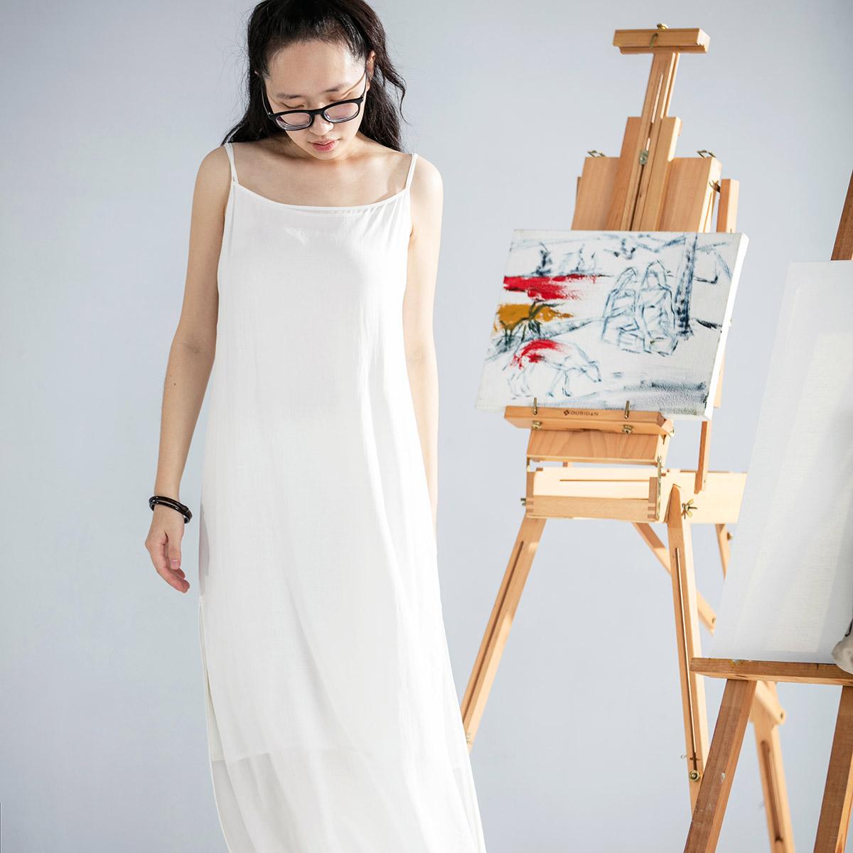 【DADINKOWA卢旺达的鱼原创设计】打底吊带裙D18B05
