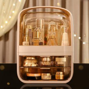 网红化妆品收纳盒防尘护肤品化妆盒梳妆台口红置物架桌面抖音同款