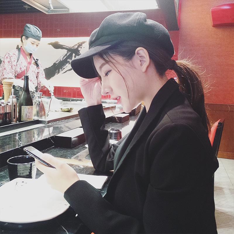 毛呢帽子女秋冬韩版甜美可爱八角帽百搭英伦画家帽冬天日系贝雷帽