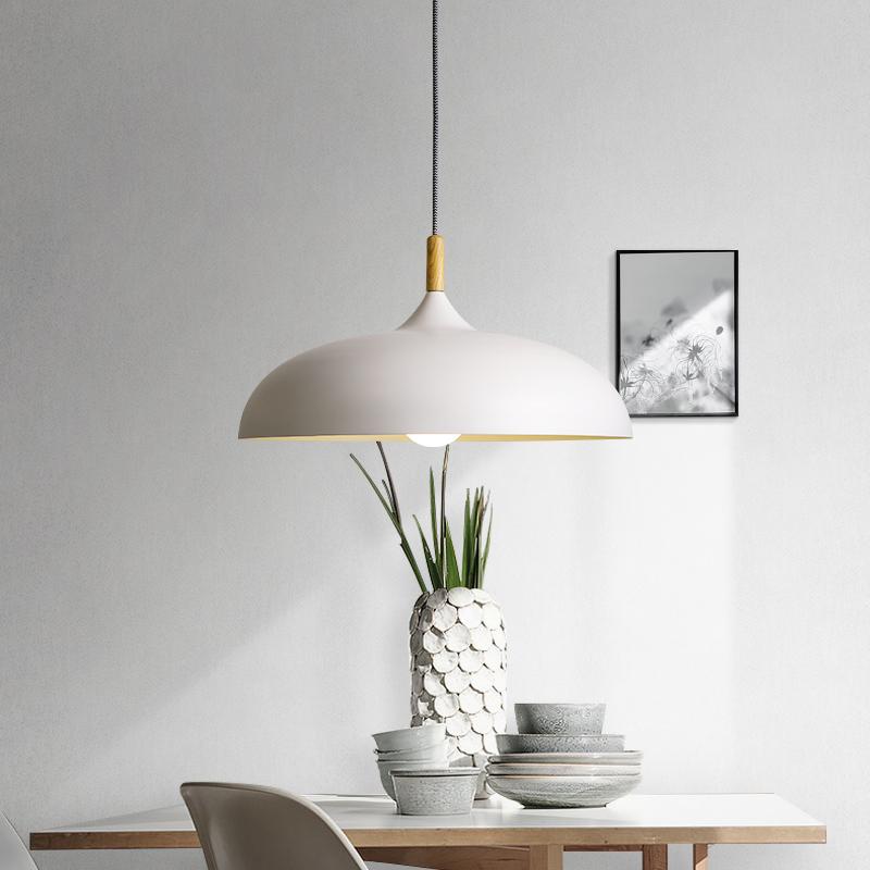 北欧简约创意个性现代厨房客厅卧室奶茶店吧台餐馆饭厅灯白色吊灯-中能杰品会专卖店