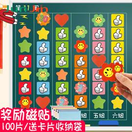 大号星星磁贴教具黑板磁性表扬小号花朵积分奖励磁贴宝宝儿童幼儿园小红花冰箱贴白板笑脸磁贴奖励大拇指磁铁