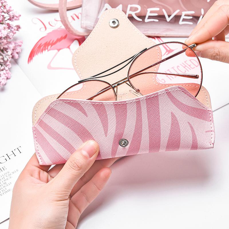 眼镜盒ins少女便携抗压简约创意个性太阳眼镜袋墨镜袋眼镜收纳包