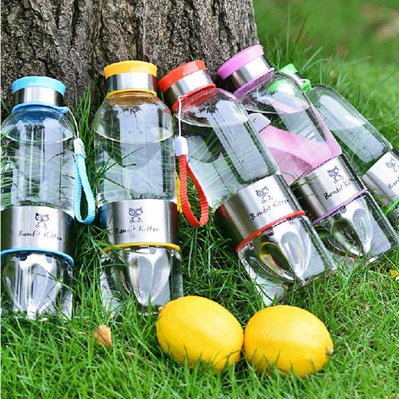 韩版学生女士果汁玻璃杯大容量创意儿童柠檬水杯便携手动榨汁杯子