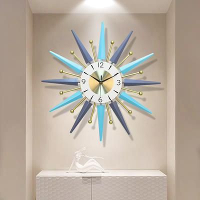 钟表挂钟客厅现代简约家用时钟北欧轻奢餐厅墙面装饰创意静音挂表
