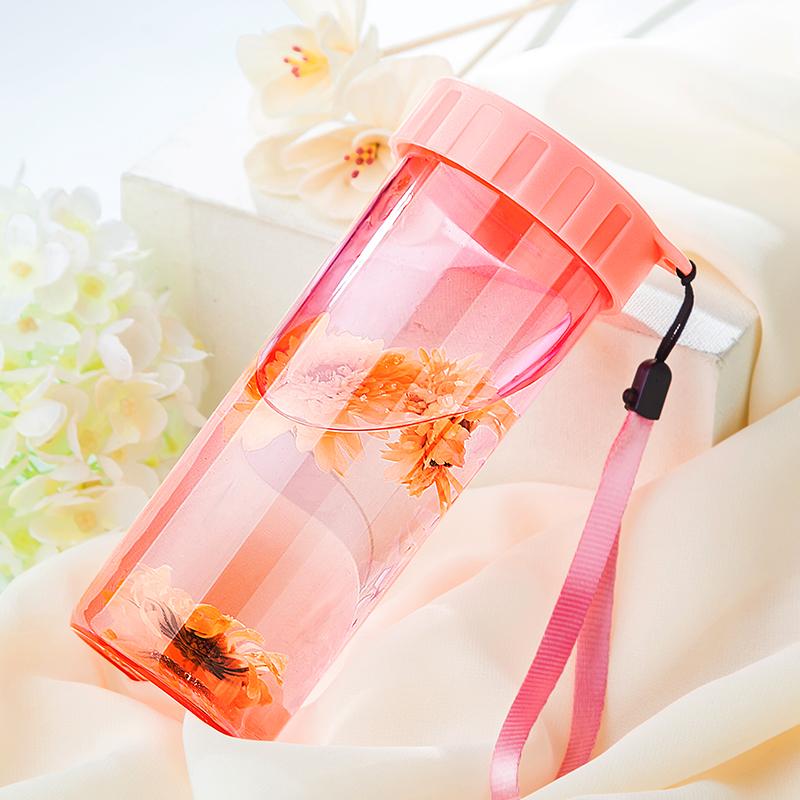 塑料杯便携防漏创意潮流运动随手杯简约男女学生小清新水杯子