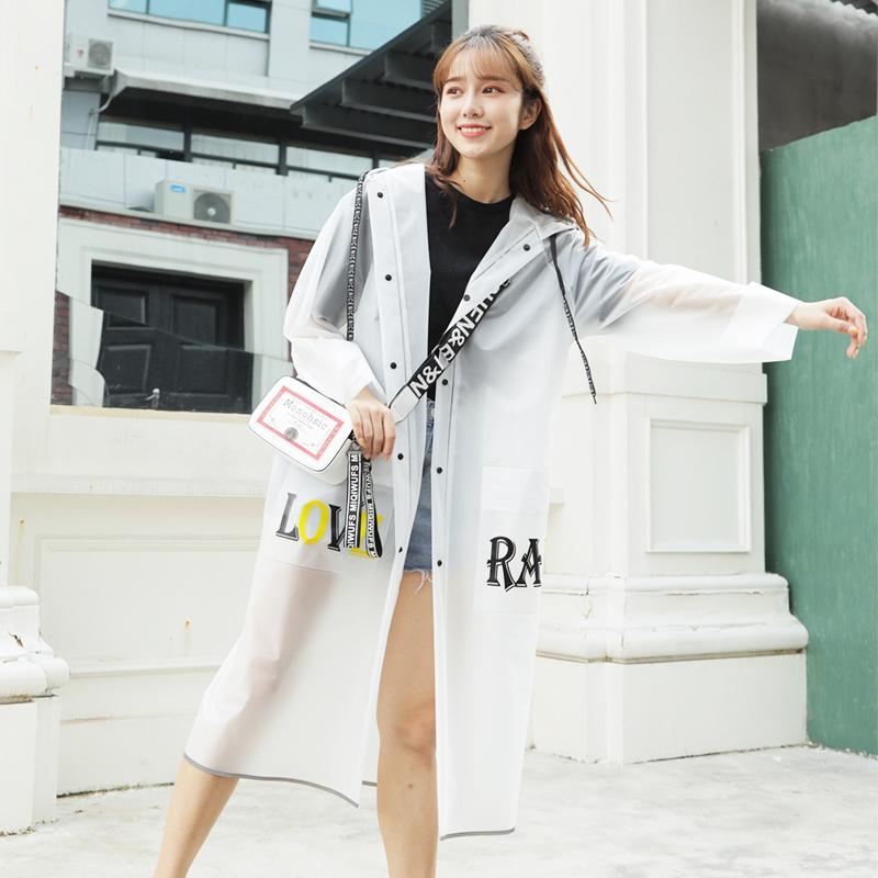雨衣女成人外套韩国时尚旅游徒步学生男自行车加长款透明全身雨披