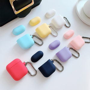 AirPods case iPhone Apple Bluetooth wireless headset accessories aripods solid color ins Korea cute silicone ipod box set vibrato flypods shell airpod protective shell