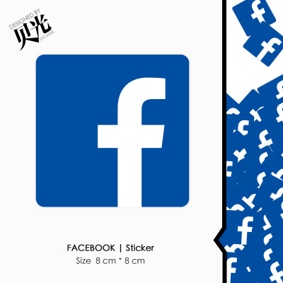 FaceBook脸书个性潮牌行李箱贴纸笔记本电脑拉杆箱吉他贝光272 拍下1.8元包邮