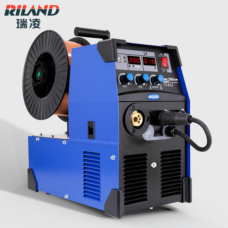 瑞凌二保焊机 瑞凌220v二保焊机一体机NBC200GW二氧化碳保护焊机