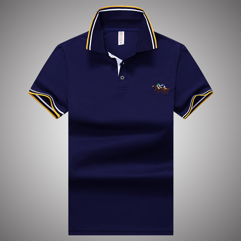 夏季t恤男短袖青年商务保罗衫体恤上衣服纯色翻领T恤polo衫男士装