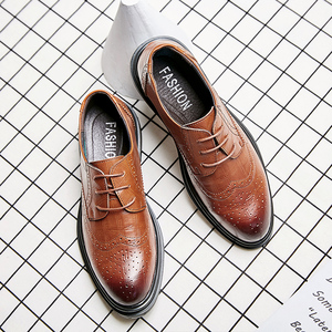 Men's shoes winter tide shoes Brock shoes men's carved leather round head leather shoes 48 yards new shoes men 2019
