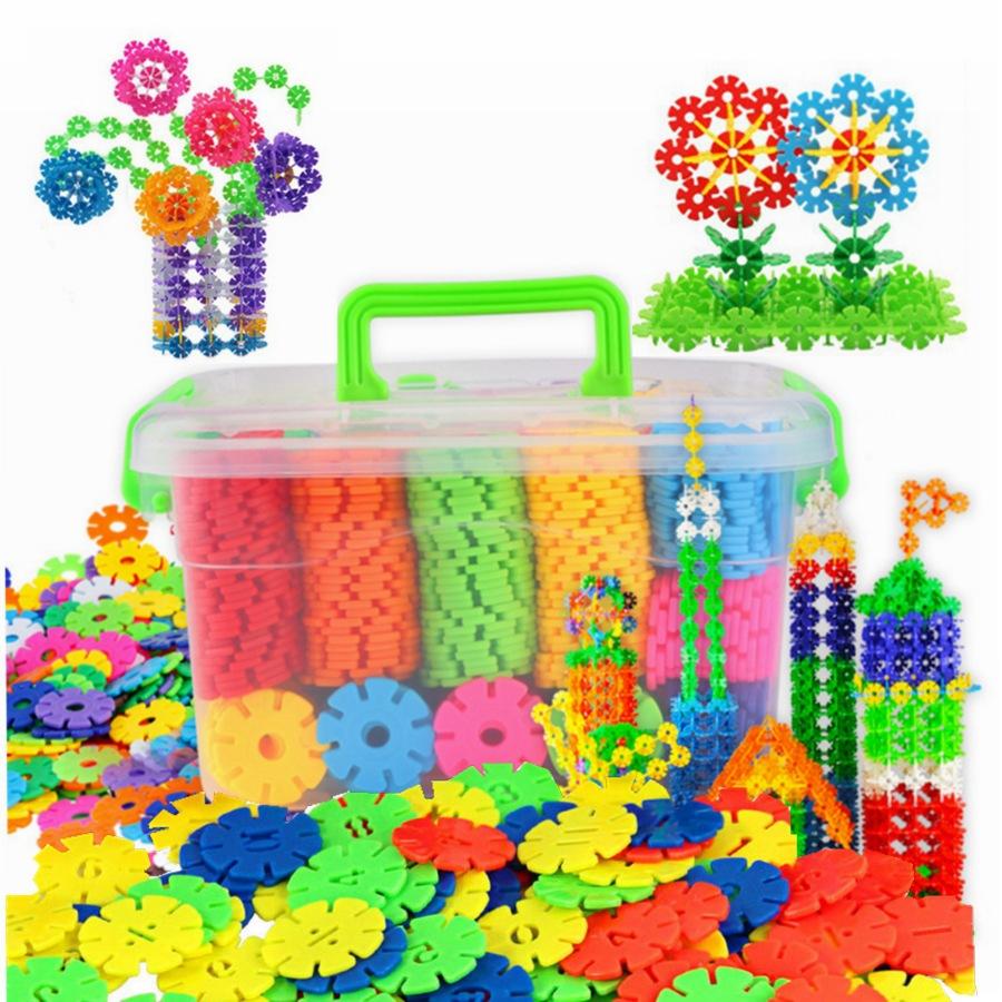 200片雪花片拼装插积木早教宝宝婴儿童益智玩具0-3岁幼儿园图片