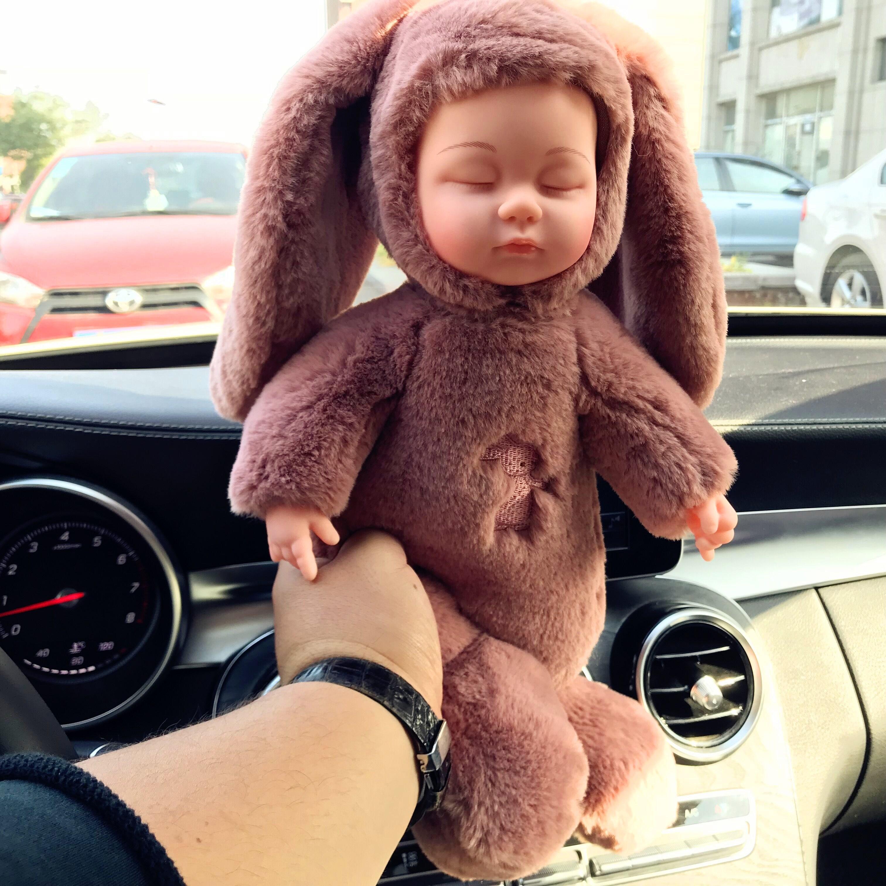 睡眠娃娃仿真婴儿毛绒玩具音乐萌睡玩偶软胶安抚陪睡公仔大号包邮