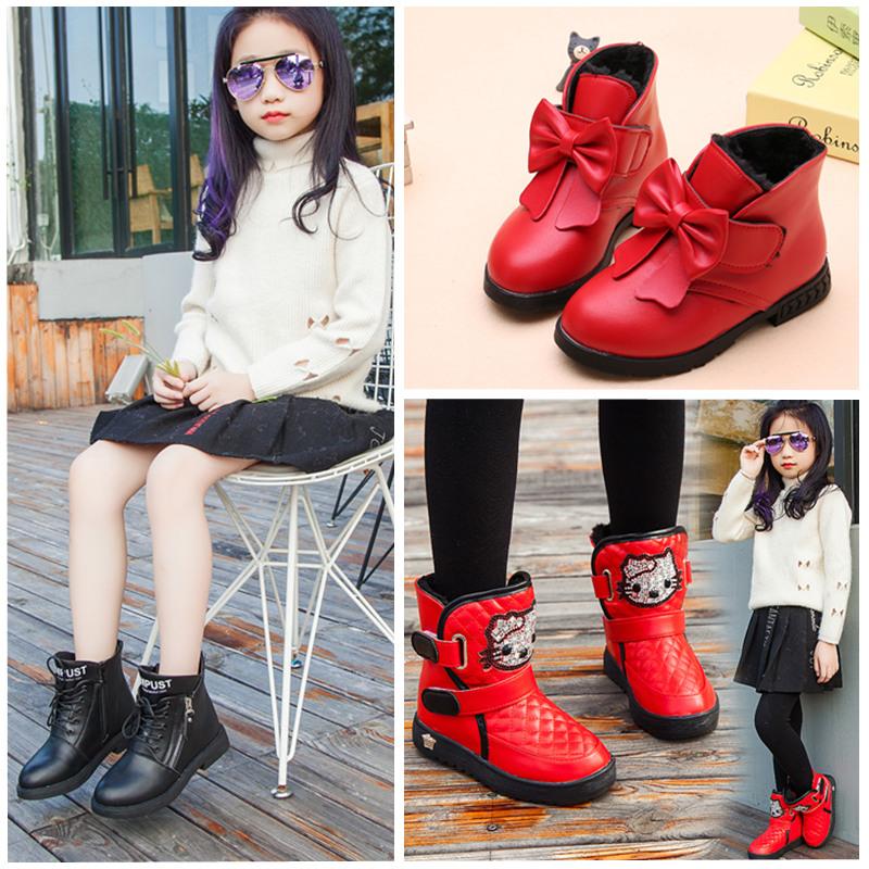 女童靴子秋冬2018新款儿童马丁靴小女孩韩版公主短靴小中大童鞋子