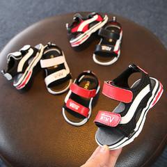 宝宝,凉鞋,韩版,男女,防滑,沙滩,1岁,学步,19码,黑色