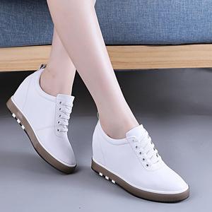 内增高小白鞋女...
