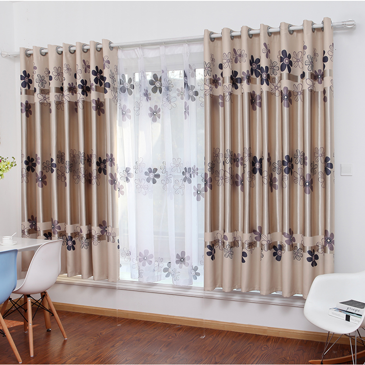 Double Sided Drapes : Sunflower custom curtains finished double sided printing
