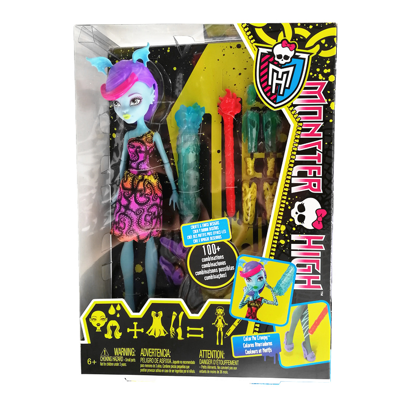 美泰正品 monsterhigh 怪物高中 精灵娃娃 BCC45女孩图画玩具