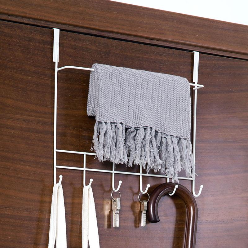 创意无痕免钉门后挂钩浴室挂架挂衣钩 厨房门上强力置物架挂衣架