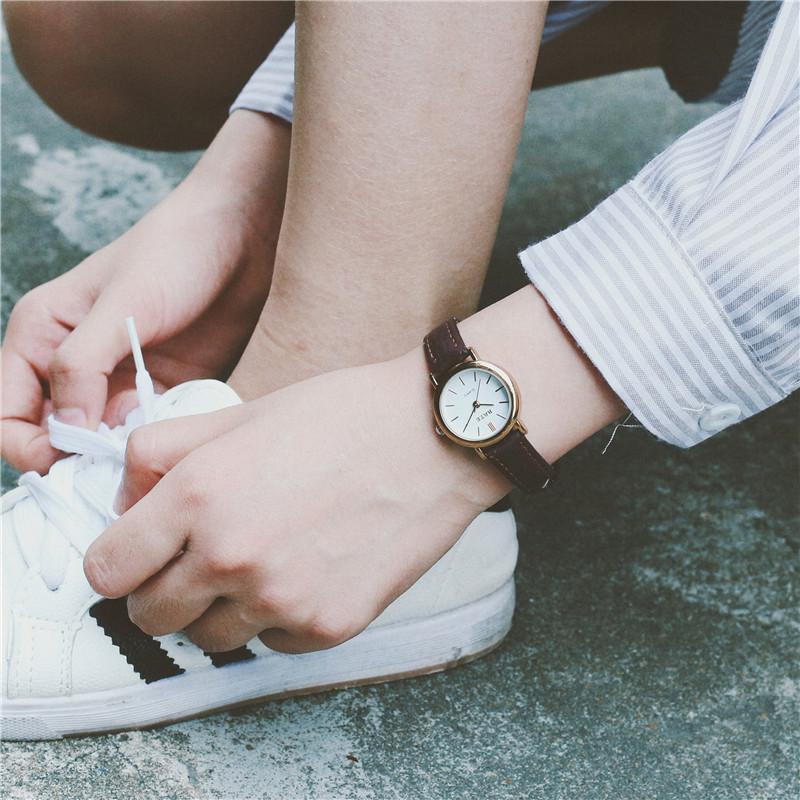 手表女复古小表盘细皮带初高中学生女生手表韩版简约休闲小巧女表